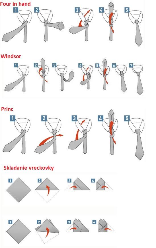 How to tie a tie  Ako viazať kravatu